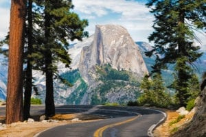 Half Dome, the most famous monolith in Yosemite National Park.